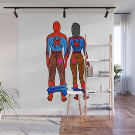 Superhero Butts Love 6 - Chocolate Wall Mural