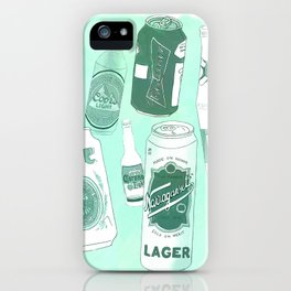 Vacation beers in mint green iPhone Case