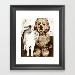 US AND THEM: Not all enemies are what you think Framed Art Print