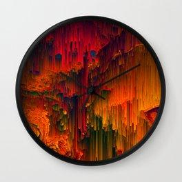 Toxic Rain - Pixel Art Wall Clock