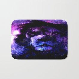 Lion leo purple Bath Mat