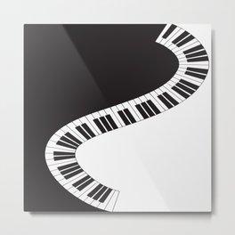 PIANO KEYS Pop Art Metal Print