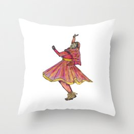 Indian Kathak Dancer Throw Pillow