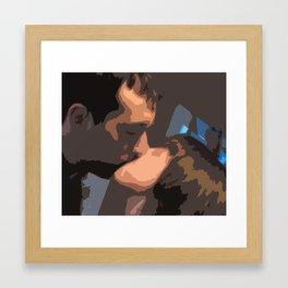 Geometric kiss Framed Art Print
