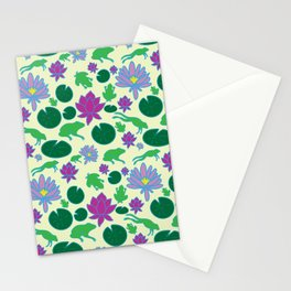 Jumping Frogs of Lily Pad Valley Stationery Cards