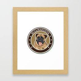 dog breed Bullmastiff Framed Art Print