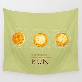 Porcupineapple Bun Wall Tapestry