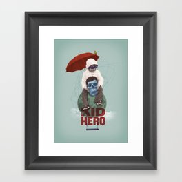 KID HERO Framed Art Print