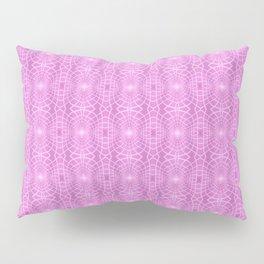 Pink Metallic Gossamer Web Digital Art Pillow Sham