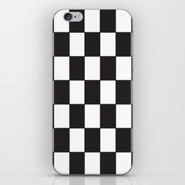 Damier noir blanc iPhone Skin