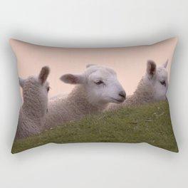 Hiding from our mums Rectangular Pillow