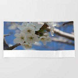 Beautiful Delicate Cherry Blossom Flowers Beach Towel