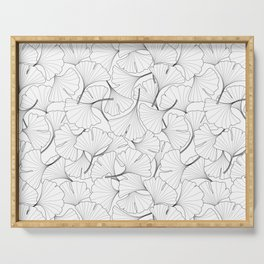 ginkgo leaves (white) Serving Tray