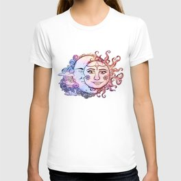 colored Sun and Moon T-shirt