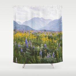 Waterton Wildflowers Shower Curtain