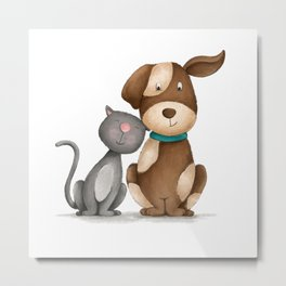 Purrfect Love Metal Print