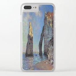 Claude Monet's The Cliffs at Etretat Clear iPhone Case