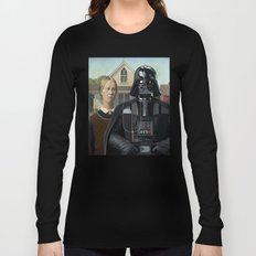 Darth Vader in American Gothic Long Sleeve T-shirt