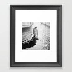 GONDOLA B/W Framed Art Print