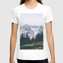 Mountains #faded T-shirt