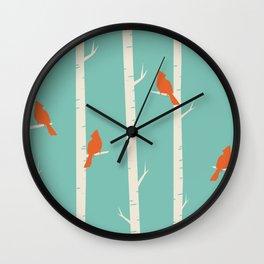 Red Robins Wall Clock