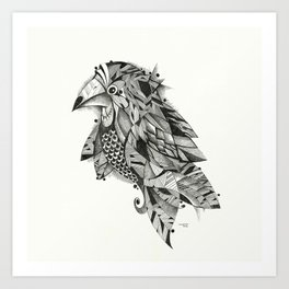 bird lines Art Print