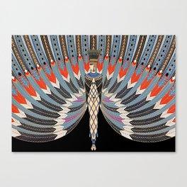 "Art Deco Egyptian Design ""The Nile"" Canvas Print"