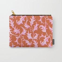 Hand Painted Art Nouveau Vines - Velvet Pink Carry-All Pouch