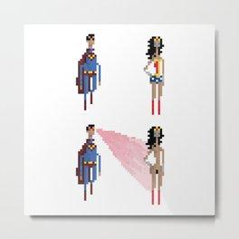 Gal Gadot Wonderwoman pixel art Metal Print