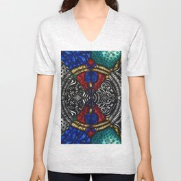 Hearts and Diamonds (Color) Unisex V-Neck