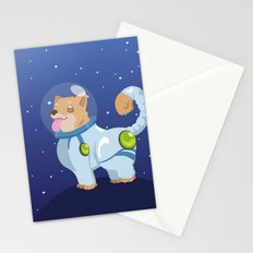 Corgis in Space Stationery Cards