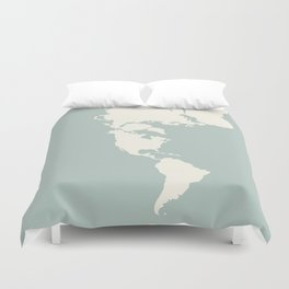 Dymaxion Map of the World Duvet Cover