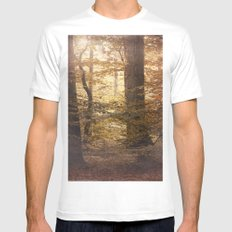 Autumn Came, With Wind & Gold. White Mens Fitted Tee MEDIUM