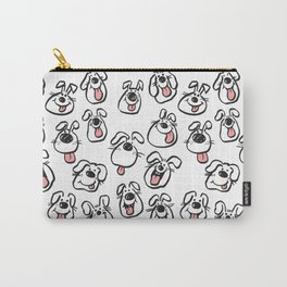 Happy Dog Faces Carry-All Pouch