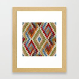 kilim rug pattern Framed Art Print