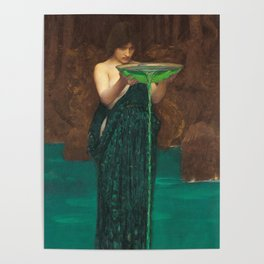 John William Waterhouse - Circe Invidiosa Poster