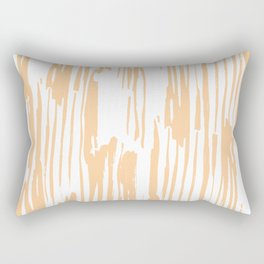Modern Coral Stripes IV Rectangular Pillow