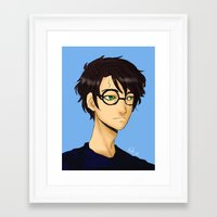 harry potter Framed Art Prints featuring Harry Potter by Nabjae