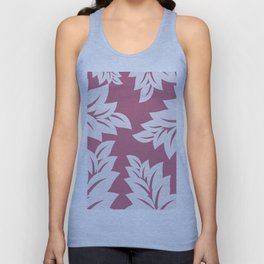 tropical pink leaves Unisex Tank Top