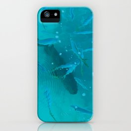 Fish Painting: Goliath Grouper and Yellowtail iPhone Case