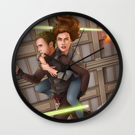 Fitzsimmons - Space Rollerblades Wall Clock