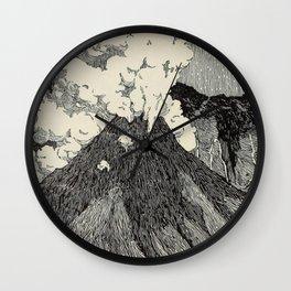 Naturalist Volcano Wall Clock