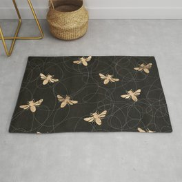 Busy Bees (Black) Rug