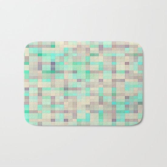 Pastel Pixels  Aqua & Lavender Bath Mat