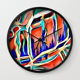 water coulor Wall Clock