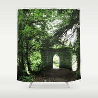 ireland Shower Curtains featuring Ireland by ericasterling