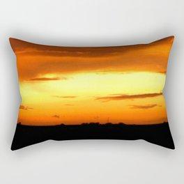 Sunset Over The Fields Rectangular Pillow