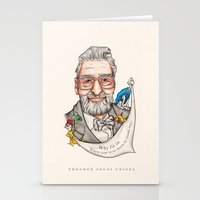 dr seuss Stationery Cards featuring Dr. Seuss - Quote by Sally Ridge
