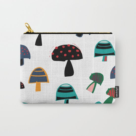 Cute Mushroom white Carry-All Pouch