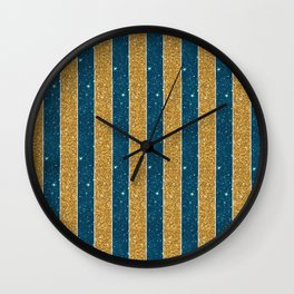 Cosmic Pinstripes Wall Clock